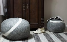 stONE and tONE — a collection of pillows from Fivetimesone