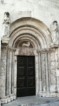 Entrance of the Cathedral of St.Anastasia in Zadar,Croatia