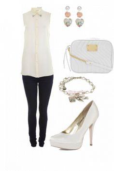 Cute smart casual dress with tip collar shirt