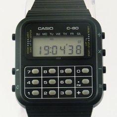 Vintage69: viva80pt: #Casio C80 #digital #watches #calculator #eighties...