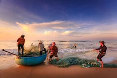 Asian Fishermen At Work - by Quangpraha    #people #photography #freeimages