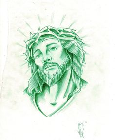 Awesome Jesus Tattoo Sketch