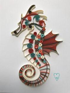 Ocean Colored Seahorse