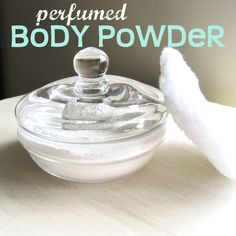 Perfumed Body Powder. So, since perfumed body powder is expensive, and I don't have moolah to be a throwin around where it needn't, I set out to make some myself, and I have been smelling good for months now! Here's how I did it...