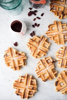 Serve up these subtly sweet Belgian waffles made with pearl sugar for your next special breakfast or dessert. Waffles are a great breakfast treat, something that we truly enjoy in our family. I recei Yummy Treats, Delicious Desserts, Sweet Treats, Yummy Food, Slow Cooker Desserts, Real Food Recipes, Baking Recipes, Brunch Recipes, Dessert Recipes