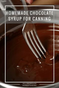 Better than Hershey's! 15 minutes to make, 15 minutes to can! Easy, homemade chocolate syrup.