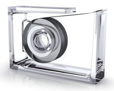 Roll Air Desk Tape Transparent Dispenser from Design Meets Tech: Feat. Lexon & BoomPods on Gilt Tapas, Lexon Design, Colored Tape, Home Office Accessories, Desk Essentials, Tape Dispenser, Kartell, Desktop Organization, Desk Storage