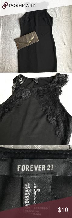 Little Black Dress Sexy little black dress, lightly used. Length is 32 inches. Forever 21 Dresses Mini