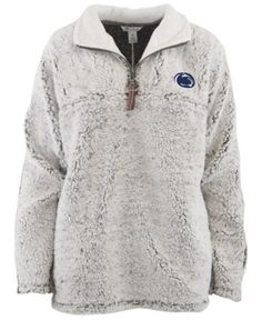 de086a8206c Pressbox Women s Penn State Nittany Lions Sherpa Quarter-Zip Pullover -  Gray XL University Of