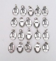 Lot 20 Holy CONFIRMATION Charms Holy Medals Catholic Gifts Jewelry SILVER finish Catholic Gifts, Confirmation, Jewelry Gifts, To My Daughter, Silver Jewelry, Charms, It Is Finished, Valentines, Valentine's Day Diy