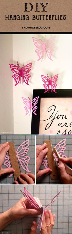 Lovely hanging butterflies with tutorial