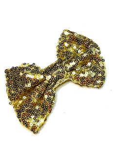 for craft embellishment supplies Gold 5 fabric sequin bow ties DIY baby headband and hair bows sequined applique