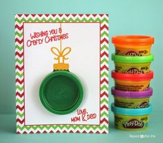 Printable Play-Doh Ornament Gift Card -
