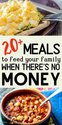 Barely making end meet? Here are more than 20 frugal meals a.- Barely making end meet? Here are more than 20 frugal meals and ideas to feed your family when you are broke. Cheap Easy Meals, Inexpensive Meals, Frugal Meals, Freezer Meals, Cheap Meals For Two, Cheap Recipes, Healthy Family Meals, Snacks On A Budget, Cheap Large Family Meals
