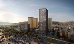 Diseñado por CRAFT Arquitectos. . A cargo de CRAFT Arquitectos, New City Medical Plaza es un proyecto único en su composición en la ciudad de Tijuana. Se trata de un complejo mixto...