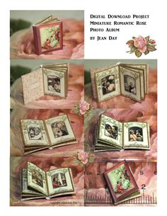 Vintage Romantic Rose Photo Album Project or by jdayminis on Etsy, $4.75