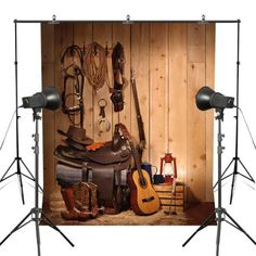 9134429ae75 GreenDecor Polyster 5x7ft Western Cowboy Photography Backdrops American  Country Style Theme Rustic Wooden Panel Children Photo