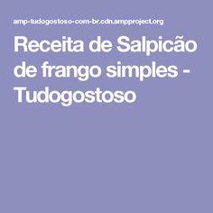 Receita de Salpicão de frango simples - Tudogostoso