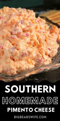 Homemade Pimento Cheese, Pimento Cheese Recipes, Pimento Cheese Recipe Pioneer Woman, Finger Food Appetizers, Yummy Appetizers, Appetizer Recipes, Finger Foods, Southern Recipes, Southern Quotes
