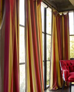 """Odessa"" Striped Curtains at Horchow."