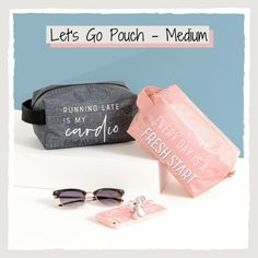 Great for bathroom and beauty storage or on its own for lip glosses, phone chargers, face masks, or any other small accessories that need a home. Available for a limited time at Shop.BagItUpLisa.com. #BagItUpLisa #ThirtyOneGifts #LetsGoPouch #31Bags Thirty One Catalog, Thirty One Bags, Thirty One Gifts, The Glow Up, Phone Chargers, 31 Gifts, 31 Bags, Running Late, Face Masks