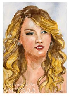 Taylor Swift Watercolour | quaymberley