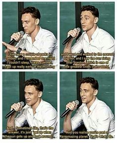 Are you asking me why do i like Tom Hiddleston?.. Well this is one of the parts that i find amazing about him!!