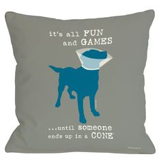 Have to have it. 18 x 18 in. Its all Fun and Games Throw Pillow - $33.99 @hayneedle