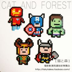 Avengers perler beads