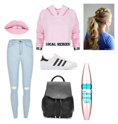 """""""Shopping"""" by makennaanderman on Polyvore featuring Local Heroes, River Island, adidas Originals, rag & bone and Maybelline"""