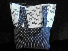 Spot and Scottie Dog Tote by AnitaRoseDesigns on Etsy