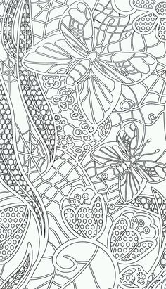 pin by aysel demirbaş on patterns   pinterest   adult coloring ... - Advanced Coloring Pages Butterfly