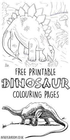 Set of 5 free printable dinosaur colouring pages featuring realistic dinosaurs and dinosaur scene. My boys will love these: Set of 5 free printable dinosaur colouring pages featuring realistic dinosaurs and dinosaur scene. My boys will love these Dinosaur Worksheets, Dinosaur Printables, Dinosaur Activities, Dinosaur Crafts, Color Activities, Activities For Kids, Printable Worksheets, Printable Coloring, Dinosaur Dinosaur