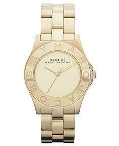 Montre pour femme : Marc by Marc Jacobs Watch Womens Gold Ion Plated Stainless Steel Bracelet 37mm MBM3126  Marc by Marc Jacobs  Jewelry & Watches  Macys