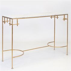 Worlds Away Marcy Gold Console Table WAMARCYGW