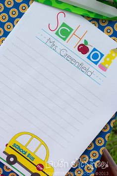 Printables for back to school -love these!