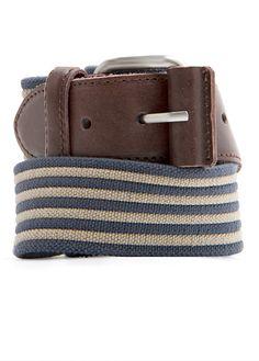 striped buckle belt @mango, $46