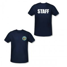 Parks and Recreation Pawnee Seal Staff Navy T-Shirt