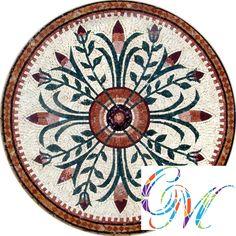 MD078 Marble Mosaic Medallion Tile