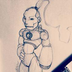 Sketch ironman style ninja