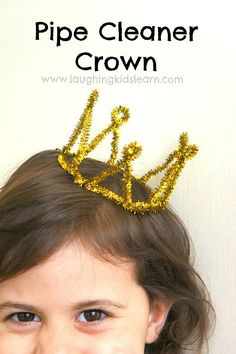 How to make a pipe cleaner crown your kids will love to make or simply play with during imaginative play - Laughing Kids Learn