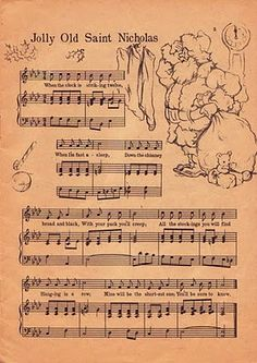 Jolly Old Saint Nicholas Sheet music
