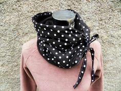 schwarzer SchlauchSchal Tuch  Loop Punkte Dots von Zellmann Fashion auf DaWanda.com