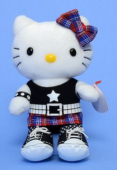 Rock Hello Kitty - Cat - Ty Beanie Babies