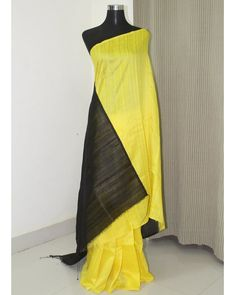 Buy Exclusive Yellow and Black Pure 80 gram Handloom Raw Silk Saree Online Shopping from Paarijaatham Dupion Silk Saree, Raw Silk Saree, Silk Sarees Online Shopping, Buy Sarees Online, Mulberry Silk, Saree Collection, Indian Wear, Pure Silk, Pure Products