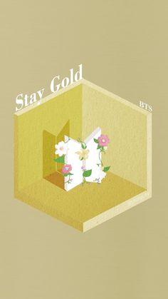 Album Bts, Album Songs, Bts Lyric, Aesthetic Pastel Wallpaper, Stay Gold, Gold Logo, Bts Pictures, Bts Boys, Phone Backgrounds