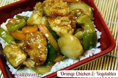 Mommy's Kitchen: Orange Chicken & Vegetables {Chinese Take - In}