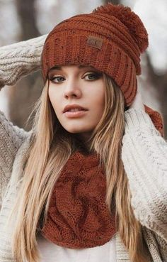 e9256654 Stay Cozy in this ultra luxe and lightweight richly textured CC knit beanie.  Made in
