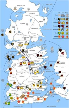 Westeros Map with Political Boundaries - http://gameofthrones.net ...