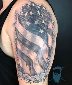 Old glory on Donnie! Thanks for letting me blast this one man! #broketattoos #viciousinktattoos #tattoo #tattoos #tattooed #inked #hexiscartridges #electrasyncleanser #fusionink #hextat #america #flag #merica #makeamericagreatagain #needlesupply